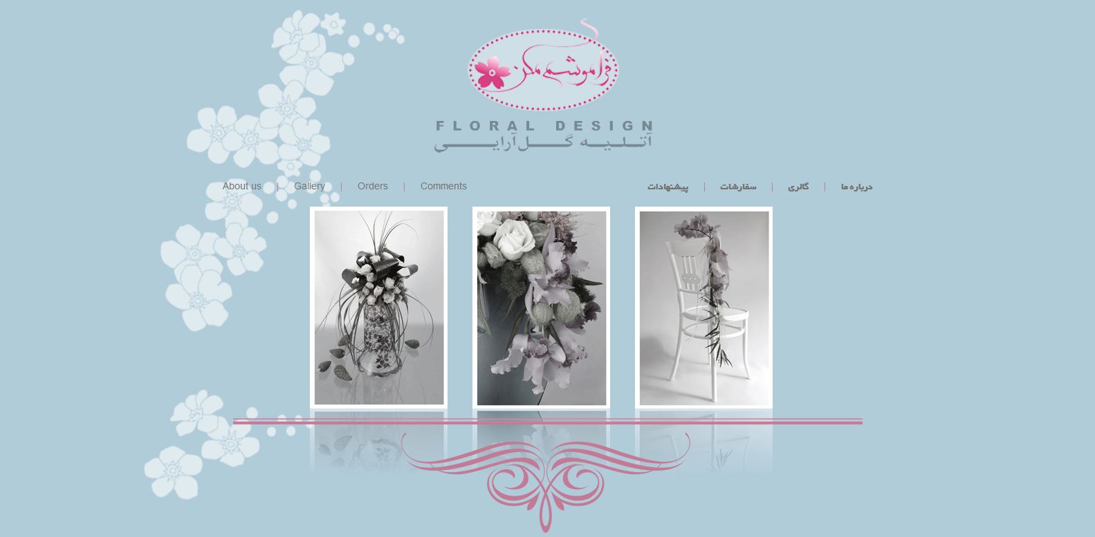 Forget Me Not Floral Shop Web Design